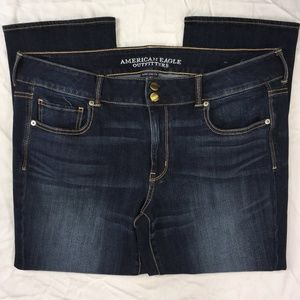 American Eagle Super Stretch Artist Crop Size 18